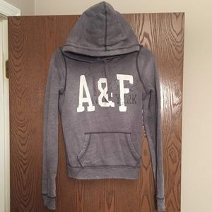 Grey Abercrombie & Fitch Hoodie